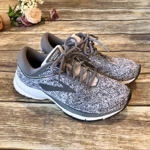 EUC BROOKS Launch Grey & White Running Shoes 7.5